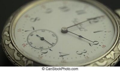 Antique clock dial close-up - Antique dial of pocket watch...