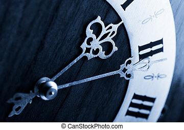 antique clock dial with Arabic numerals