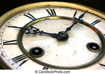 Antique clock face detail
