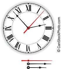 Antique Clock Face - Illustration of an antique clock face...