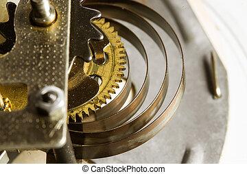 Antique clock gears