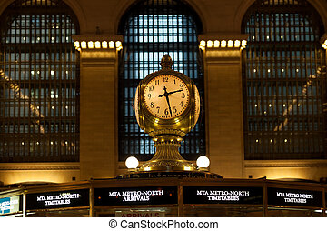Antique clock in main concourse of Grand Central Terminal