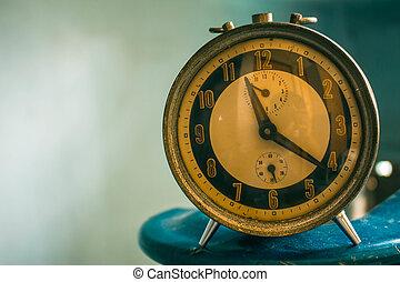 antique clock of vintage.