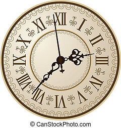 Antique clock. Vector illustration/