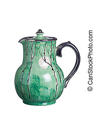 Antique coffee pot - Vintage coffee pot isolated against...