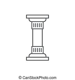 Antique Column pillar vector icon concept, isolated on white background