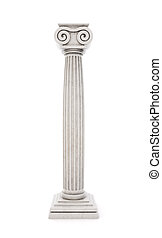 Antique column stock illustration isolated on white background. 3d render.