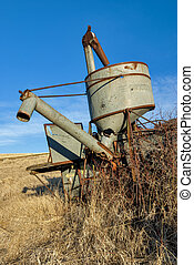 Antique combine forgotten by time
