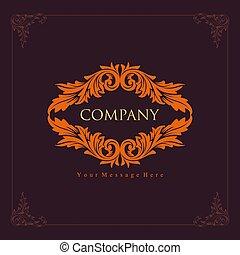 Antique company engraving logo design vector