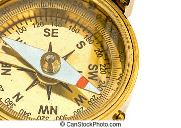 Antique Compass - Antique compass used by explorers for ...