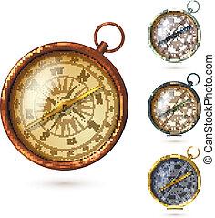 Antique compass set