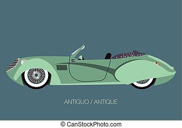 antique convertible car.eps
