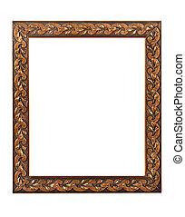antique copper colored picture frame