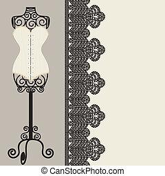 corset - antique corset with lacing