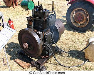 Antique diesel engine