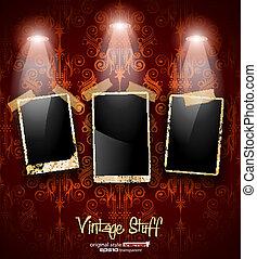 Antique distressed photoframes