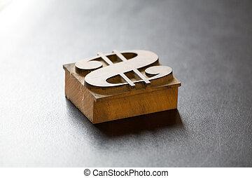 Antique Dollar Typeface