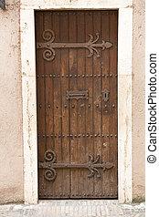 Antique door retro style processed
