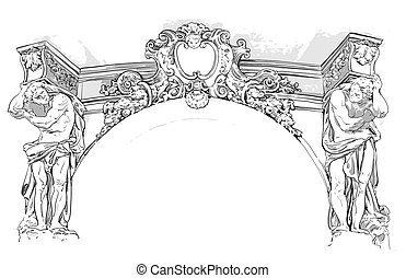 antique drawing, this illustration may be useful as designer...