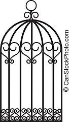 antique empty bird cage