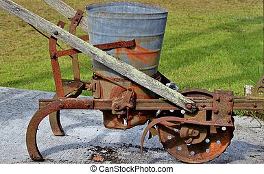 Antique farm equipment - Old and rusted, farm equipment