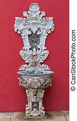 Antique faucet in Dolmabahce palace, Istanbul, Turkey
