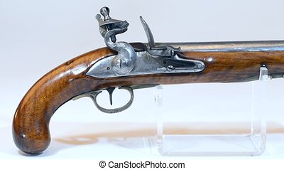 Antique Flintlock Pistol. - English flintlock pistol made...