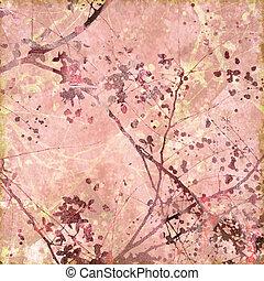 Antique Floral Textured Art Background