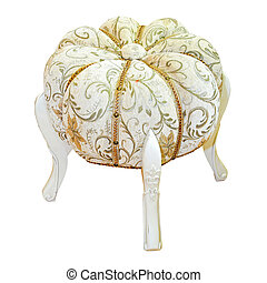 Antique footrest stool with clipping path included