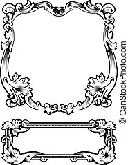 Antique Frame Engraving, Scalable And Editable Vector...