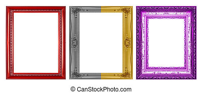 Antique frame isolated on a white background