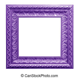 antique frame isolated on black background