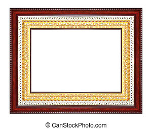 antique frame isolated on white background