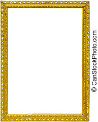 antique frame on a white background