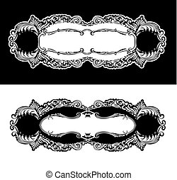 Antique Frames Engraving, Scalable And Editable Vector Illustration