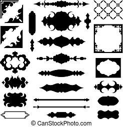Antique frames shapes vector