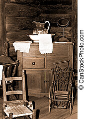 Antique Furniture in Sepia