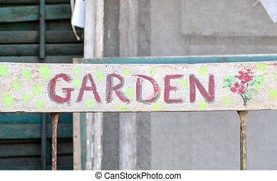 Antique Garden Sign
