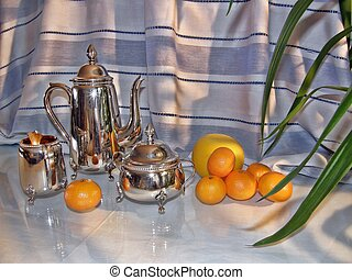 German silver tea set