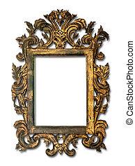 Antique glass frame