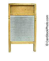 Antique Glass Washboard isolated with clipping path
