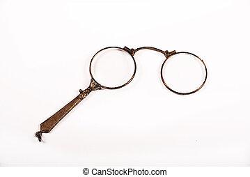 Antique glasses - Antique pretty glasses on the white ...