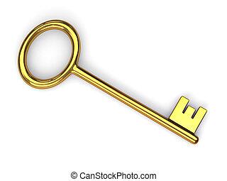 Antique gold key