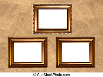 Antique golden frames