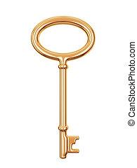 Antique golden key.