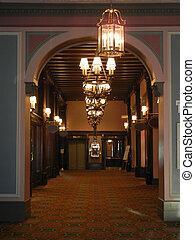 Antique hall way - Arched door way and hall