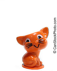 Antique Halloween candy container of Kitty Cat