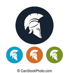 Antique helmet icon, vector illustration - Helmet icon, the...