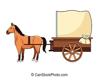 Antique horse carriage animal tractor