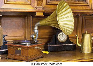 Antique interior with Phonograph